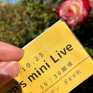 かてぃんさんのミニライブ@京成バラ園
