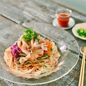 【レシピ】豚しゃぶサラダうどん@日本栄養士会アンバサダー