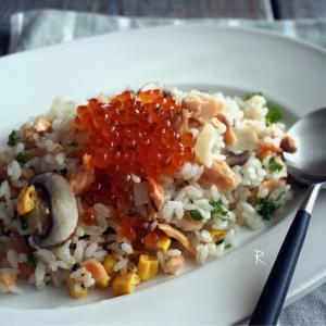【レシピ】鮭とイクラの洋風親子丼@HBCブラキタ