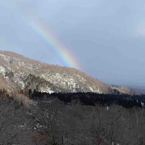 スキー場に虹