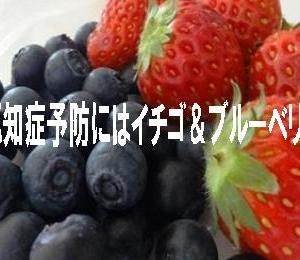 ☆ブルーベリー&イチゴが認知症予防に役立つ?!☆