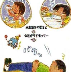 """☆要注意!体液の成分が薄くなる""""水中毒""""☆"""
