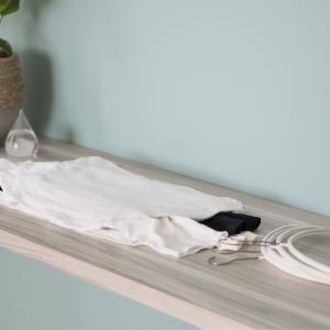 便利な道具と一直線でラクしている洗濯