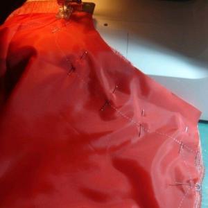 手作り日記、洋裁編 夏の赤いワンピ 2