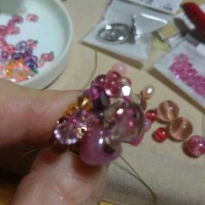 手作り日記、ビーズ編、ピンク色の指輪