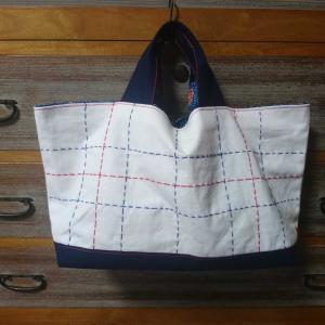 手作り日記 手芸編 夏のトートバッグにおそろいの花ブローチ!