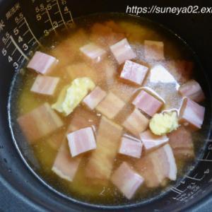 海苔ベーコンご飯