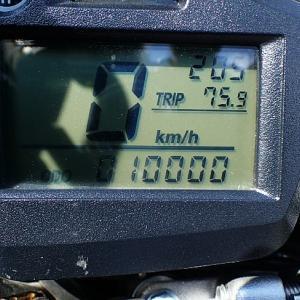セロー1万キロ