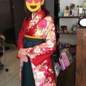 お母さんが着付ける女袴着せつけレッスン