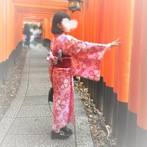 平成最後の着物は親子で京都