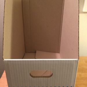 【100均の】ワイドなファイルボックス