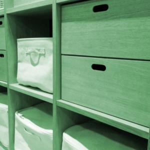 カラーボックスで使いやすい収納を作る
