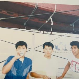 懐かしい写真 78 (31年前 同級生4人で山下公園?での写真)