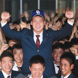 東邦高・石川昂弥内野手は中日が交渉権/ドラフト会議