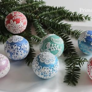 ●Lace balls for Christmas!