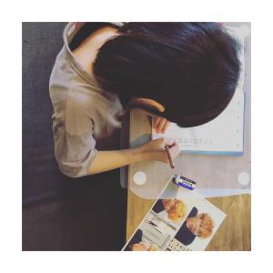 姉さんの勉強。
