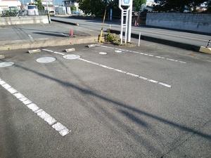 駐車スペースのライン