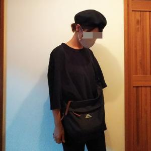 着画ブラックコーデ。グレゴリーショルダー。お気に入りのものたち。