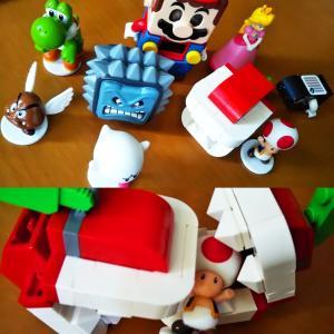 買ってあげたレゴマリオも結局こんにちはゴッコというお人形さんエチュードなトーク遊びに変わる...
