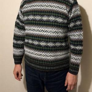 見事にサイズぴったり!フェアアイルのセーター