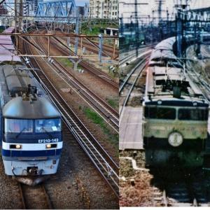 JR貨物【ブルートレイン構図で】~遅延列車~
