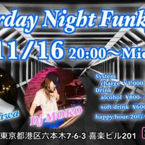 DJのお知らせ:今週末11月/16(土曜日)Funky★DでDJします♪