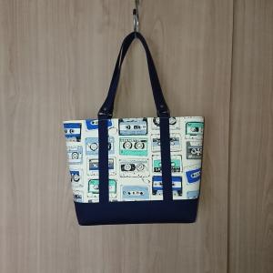 昭和レトロ柄のトートバッグ