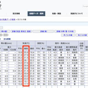 急に寒くなった9月中旬の小樽の天気と家庭菜園も終盤突入の話