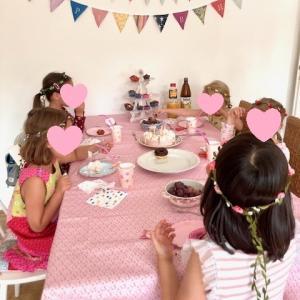 娘の5歳半の誕生日パーティー☆