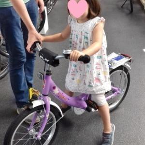 娘の自転車デビュー☆