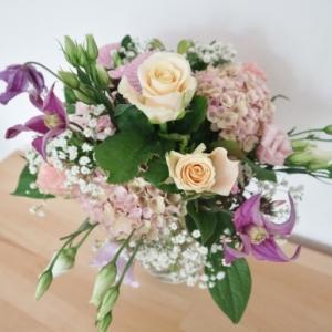 結婚7周年記念日の花束と息子の成長☆