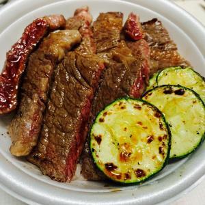 北海道の夜*車庫で焼肉&ステーキ丼