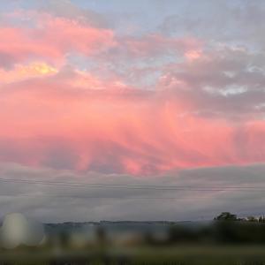 北海道*ピンク色の雲