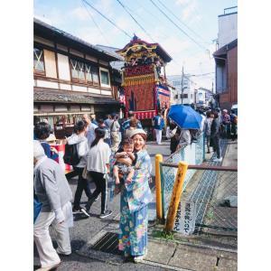 13日は大津祭りでした!着物と袴ロンパースでお店から曳山見物♪