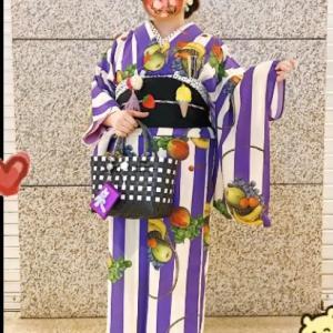 日本橋きもの浪漫5日20時まで!マスクまで素敵なお客さま夏着物コーデスナップ♪♪