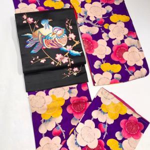 浜松町今昔きもの大市開催!お正月に着たい華やかアンティーク小紋♡