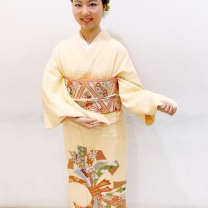聖心大学で日本舞踊の発表会♪色留袖着付け♡