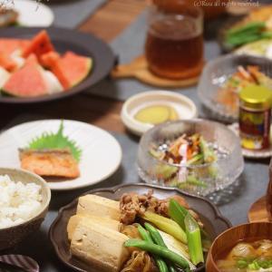 【献立】肉豆腐とキングサーモンの味噌漬け。~電話帳のメモがなかなか秀逸だった~