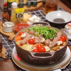 【献立】ポトフ鍋。~ポトフ→トマトポトフ→トマトチーズポトフ→トマトチーズパスタの4変化鍋~