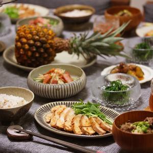 【献立】鶏チャーシューと沖縄パイナップルと。~30数年ぶりのショート~