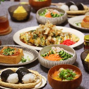 【献立】海老マヨおにぎりと巨大お好みオムレツなどなど。~うちのおにぎりは特別美味しい~