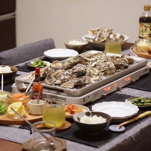 【献立】ホットプレートでおうち牡蠣小屋。~4人分1,980円で腹いっぱい牡蠣が楽しめる!~