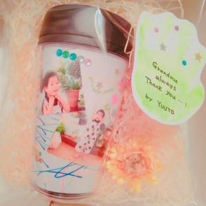 【アルバムカフェGOGOかおりんご】敬老の日タンブラー作り