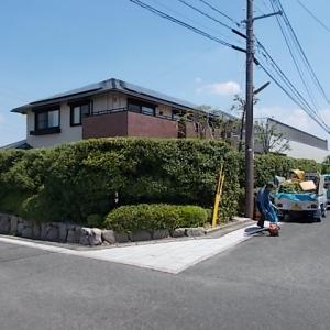 筑紫野市美しが丘南でカシ、シマトネリコ、ウバメガシ、ヒラドツツジの生垣を剪定しました。