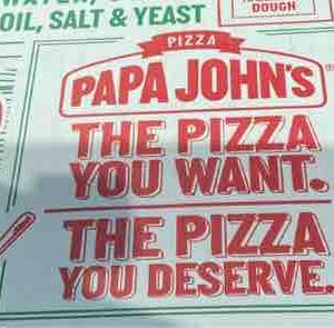 バランス良い食事、ときどきジャンク‼︎ Papa John Pizza