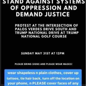 サウスベイでもProtest集会が続々と…危ないからStay Home!