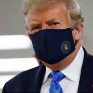 ついに、今さら? やっとマスク、トランプ大統領!