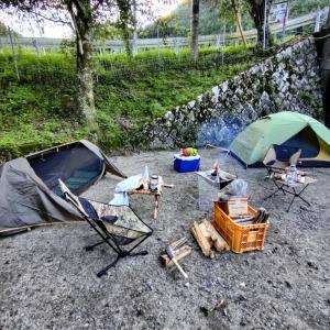 友人とキャンプ in もみじの里 松原オートキャンプ場