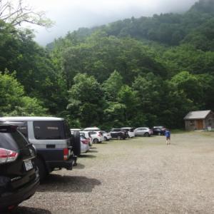日本百名山63座目は苗場山! 登山口駐車場でキャンプも