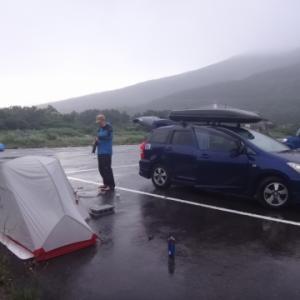 東北登山遠征(中編・3日目) 晴天の鳥海山 大井沢キャンプ場泊